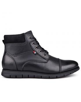 Черни мъжки ежедневни боти с топъл хастар 0131731 в online магазин Fashionzona
