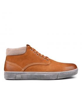 Мъжки кецове кафяви с топъл хастар 0131748 в online магазин Fashionzona