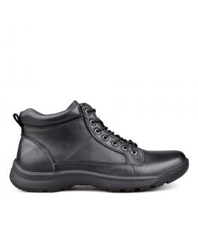 Мъжки ежедневни боти черни с топъл хастар 0131753 в online магазин Fashionzona