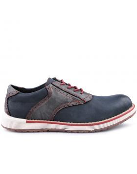 Тъмносини мъжки ежедневни обувки 0125037 в online магазин Fashionzona