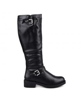 Дамски ежедневни ботуши черни с топъл хастар 0131759 в online магазин Fashionzona