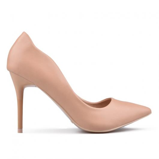 Бежови дамски елегантни обувки Nunzia