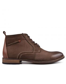 Кафяви мъжки ежедневни боти с топъл хастар 0132195 в online магазин Fashionzona
