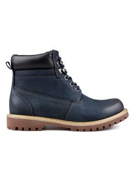 Дамски ежедневни боти сини с топъл хастар 0132212 в online магазин Fashionzona