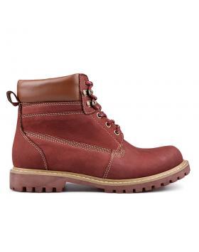 Червени дамски ежедневни боти с топъл хастар 0132213 в online магазин Fashionzona
