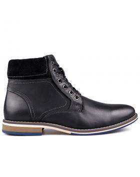 Мъжки ежедневни боти черен с топъл хастар 0132203 в online магазин Fashionzona