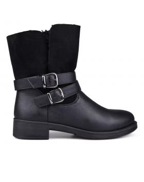 Черни дамски ежедневни боти с топъл хастар 0131819 в online магазин Fashionzona