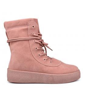 Розови дамски ежедневни боти 0131894 в online магазин Fashionzona
