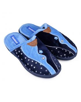 Дамски пантофи сини 0132111 в online магазин Fashionzona