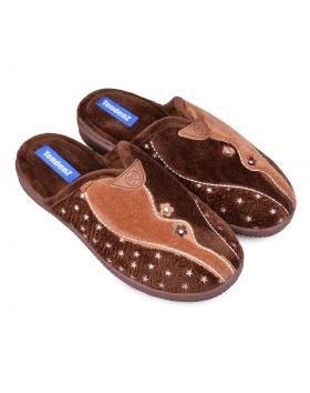 Дамски пантофи кафяви 0132134 в online магазин Fashionzona