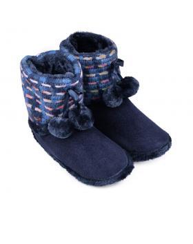 Дамски пантофи сини 0132128 в online магазин Fashionzona