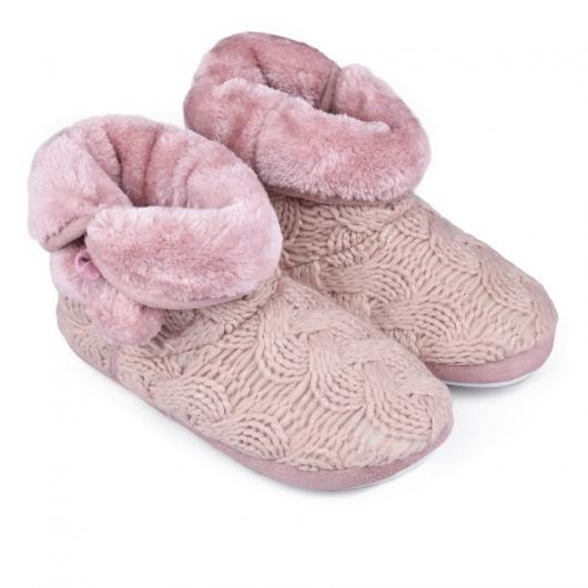 Розови дамски пантофи Evonna