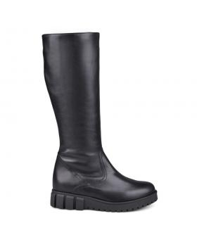 Дамски ежедневни ботуши черни с топъл хастар 0132771 в online магазин Fashionzona