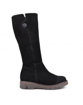 Дамски ежедневни ботуши черни с топъл хастар 0132770 в online магазин Fashionzona