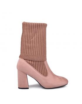 Розови дамски ежедневни боти 0134023 в online магазин Fashionzona