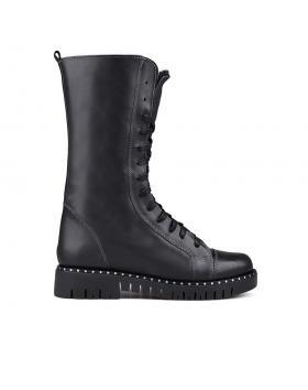 Дамски ежедневни боти черни с топъл хастар 0132805 в online магазин Fashionzona