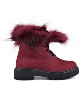 Дамски ежедневни боти червени с топъл хастар 0132792 в online магазин Fashionzona