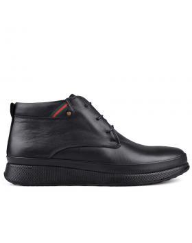 Черни мъжки ежедневни боти с топъл хастар 0134121 в online магазин Fashionzona