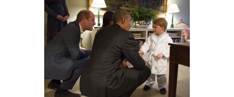Семейство Обама на гости на Уилям и Кейт